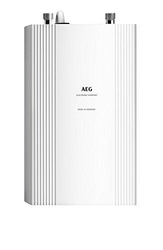 AEG Haustechnik AEG elektronischer Durchlauferhitzer DDLE Kompakt 11/13, für die Küche, Untertisch, drucklos/-fest, umschaltbar, solargeeignet, 230768, 400 V, Weiß, kw