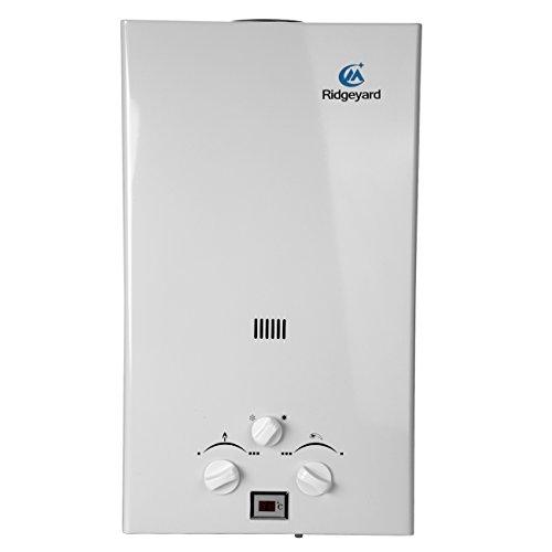 Iglobalbuy LPG Durchlauferhitzer Propangas Warmwasserbereiter (10L)