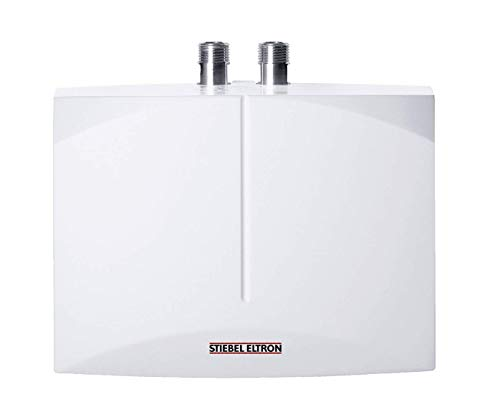 Stiebel Eltron DEM 3 elektronisch geregelter Klein-Durchlauferhitzer DEM 3, 3.5 kW, Handwaschbecken, druckfest und drucklos, Über-/Untertisch, gradgenaue Wunschtemperatur, 231001, Weiß, 3,5